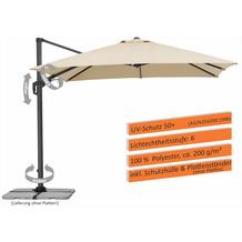 Schneider Schirme Sonnenschirm Rhodos Twist 300x300/8 natur