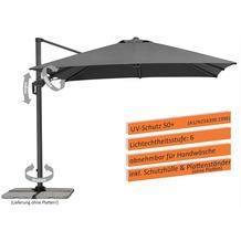 Schneider Schirme Sonnenschirm Rhodos Twist 300x300 anthrazit