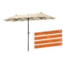 Schneider Schirme Sonnenschirm Salerno 300x150 natur