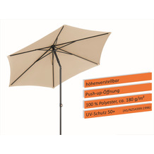 Schneider Schirme Sonnenschirm Sevilla 270/6 natur