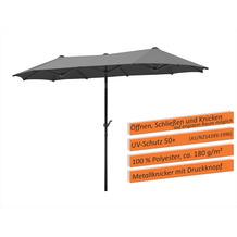 Schneider Schirme Sonnenschirm Salerno 300x150 anthrazit