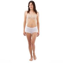 Schöller Damen Taillenslip ohne Seitennähte, Bundgummi auswechselbar - white 38