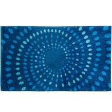 Schöner Wohnen Badteppich Mauritius Des. 002 Col. 020 Kreise blau 60 cm x 60 cm