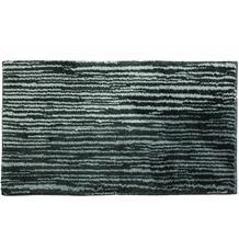 Schöner Wohnen Badteppich Mauritius Des. 003 Col. 040 Streifen anthrazit 60 cm x 60 cm