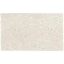 Schöner Wohnen Badteppich Santorin D. 002 C. 000 Welle weiß 55 cm x 65 cm