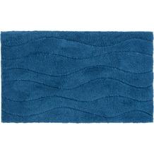 Schöner Wohnen Badteppich Santorin D. 002 C. 020 Welle blau 55 cm x 65 cm