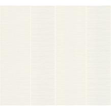 Schöner Wohnen Blockstreifentapete Vliestapete beige weiß 10,05 m x 0,53 m