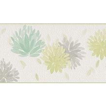 Schöner Wohnen Bordüre, beige, grün, grau, 5 m x 0,13 m 5,00 m x 0,13 m