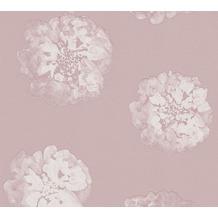 Schöner Wohnen florale Mustertapete Vliestapete metallic lila 10,05 m x 0,53 m
