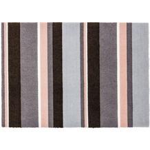 Schöner Wohnen Fussmatte Brooklyn Streifen grau-rosa 66x110