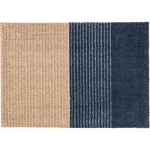 Schöner Wohnen Kollektion Fußmatte Manhattan Design 003, Farbe 022 Streifen dunkelblau 67 x 100 cm