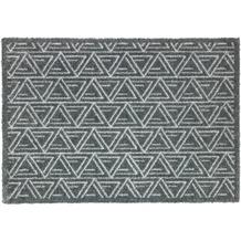 Schöner Wohnen Kollektion Fußmatte Manhattan Design 005, Farbe 040 Triangle grau 67 x 100 cm