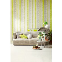 Schöner Wohnen Muster-, Strukturtapete, Tapete, gelb, grau, grün 10,05 m x 0,53 m