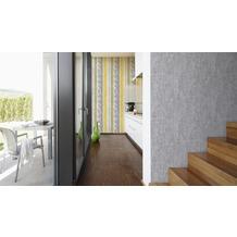 Schöner Wohnen Uni-, Strukturtapete, Tapete, grau 10,05 m x 0,53 m