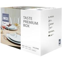 Schott Zwiesel Taste Premium Box, 16 Gläser: je 4x Stielglas-Größen 7, 0 & 1, 4x Banquet Becher Größe 330