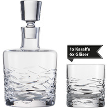 Schott Zwiesel Whisky Karaffe Basic Bar Selection quer + 6 Whisky Basic Bar Selection Gläser