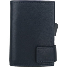 SecWal 1 Kreditkartenetui Geldbörse RFID Leder 9 cm blau
