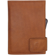 SecWal 1 Kreditkartenetui Geldbörse RFID Leder 9 cm cognac