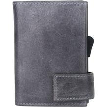 SecWal 1 Kreditkartenetui Geldbörse RFID Leder 9 cm grau