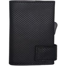 SecWal 1 Kreditkartenetui Geldbörse RFID Leder 9 cm schwarz