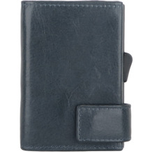 SecWal 2 Kreditkartenetui Geldbörse RFID Leder 9 cm blau