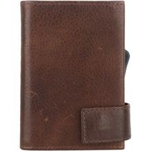 SecWal 2 Kreditkartenetui Geldbörse RFID Leder 9 cm braun