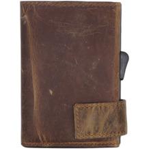 SecWal 2 Kreditkartenetui Geldbörse RFID Leder 9 cm braun hunter