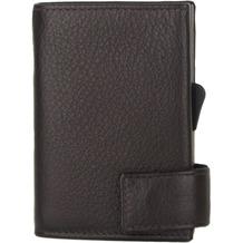 SecWal 2 Kreditkartenetui Geldbörse RFID Leder 9 cm dunkelbraun