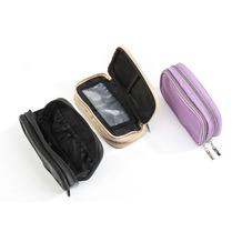 Seidel Schatz Kosmetiktasche mit 2 Reißverschlüssen klein schwarz