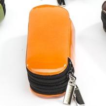 Seidel Schatz Nähset/Manicureeset Energy orange mit Doppel-RV mit Füllung Solingen de Luxe