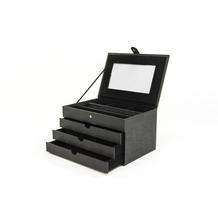 Seidel Schatz Schmuckkoffer aus Synthetik schwarz