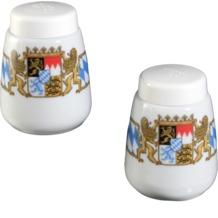 Seltmann Weiden Garnitur Salz und Pfeffer Compact Bayern 27110 blau, gelb, rot/rosa