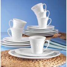Seltmann Weiden Kaffeeservice 18-tlg. A Allegro weiß uni 00003