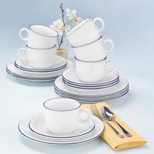 Seltmann Weiden Compact Kaffeeservice für 6 Personen 18-teilig Blaurand