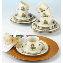 Seltmann Weiden Kaffeeservice 18-tlg. Marie Luise Weihnachten 43607 bunt, grün
