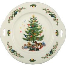 Seltmann Weiden Kuchenplatte mit Griff 27 cm Fahne Marie Luise Weihnachten 43607 bunt, grün