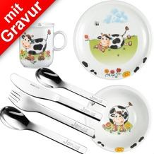 Seltmann Weiden Kinderset Kühe 7tlg. MIT GRAVUR (z.B. Namen)