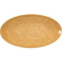 Seltmann Weiden Life Servierplatte oval 33x18 cm Amber Gold