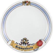 Seltmann Weiden Speiseteller 27 cm Fahne Compact Bayern 27110 blau, gelb, rot/rosa
