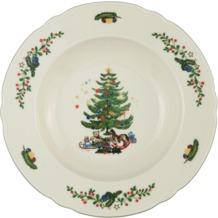 Seltmann Weiden Suppenteller 23 cm Fahne Marie Luise Weihnachten 43607 bunt, grün