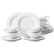 Seltmann Weiden Teeservice 18-teilig BT klein Beat weiß