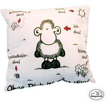 sheepworld Baumwoll-Kissen Ohne Dich ist alles doof