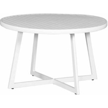 Siena Garden Alexis Lounge Tisch Ø 70x55 cm rund weiß