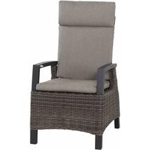 Siena Garden Corido Dining Sessel Gestell Alu matt-anthrazit, Gardino®-Geflecht charcoal grey, mit Sitz- u. Rückenkissen taupe meliert
