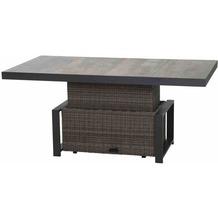 Siena Garden Corido Lifttisch 160x90x47/71 cm Gestell Aluminium matt-anthrazit, Fläche Gardino®-Geflecht charcoal grey, Tischplatte Keramik grey