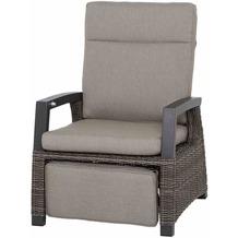 Siena Garden Corido Loungesessel Gestell Alu matt-anthrazit, Gardino®-Geflecht charcoal grey, mit Sitz- u. Rückenkissen taupe meliert