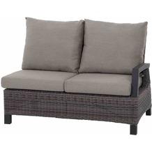 Siena Garden Corido Modul 2-Sitzer Gestell Alu matt-anthrazit, Gardino®-Geflecht charcoal grey, mit Sitz- u. Rückenkissen taupe meliert