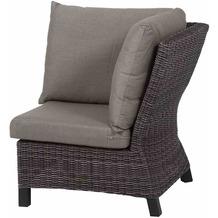 Siena Garden Corido Modul Ecke Gestell Alu matt-anthrazit, Gardino®-Geflecht charcoal grey, mit Sitz- u. Rückenkissen taupe meliert