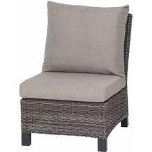 Siena Garden Corido Modul Mitte Gestell Alu matt-anthrazit, Gardino®-Geflecht charcoal grey, mit Sitz- u. Rückenkissen taupe meliert