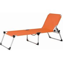 Siena Garden Dreibeinliege XXL silber/orange Gestell silber/Ranotex®-Gewebe terracotta Sonnenliege
